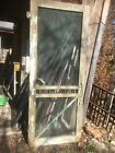 Vintage Wood Victorian screen door Primitive Farm House Cottage