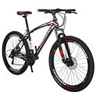 275 Mountain Bike 21 Speed Disc Brakes Bicycle Front Suspension 37SP MTB mens