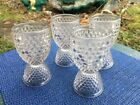 4 Clear Hobnail 1000 Eyes Double Egg Cups