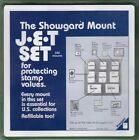 Showgard Stamp Mounts JET Set Lot US2 8 Sizes in Tray Black New w Free Post