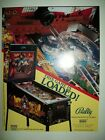1992 Bally BLACK ROSE Pinball Flyer!