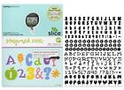SLICE Design Card die cut Mirror Shadow + Playground 4 Fonts letters numbers new