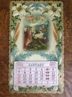 Vintage Germany Die Cut Christmas Nativity Catholic Calendar Feast Fast Unused