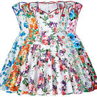 Grace Karin Womens Rock Floral Vintage Style 50s Sleeveless Party Swing Dress