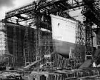 RMS TITANIC & RMS OLYMPIC UNDER CONTRUCTION IN OCTOBER 1910 - 8X10 PHOTO (AZ630)