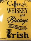 Cling mounted rubber stamp ALWAYS BETTER IRISH St Patricks Day USA made