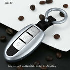 For Infiniti Car Key Shell Fit Nissan Fob Cover Holder Gun Metal Grey Alloy Case