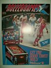 1990 Williams ROLLERGAMES Pinball Flyer!