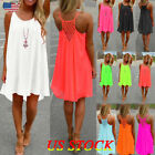 Womens Summer Beach Wear Bikini Cover Up Boho Swimwear Ladies Swing Sun Dress