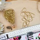 NEW GOLD Paper Clips Tear Drop Shape Set of 50 Planner Decoration Office