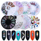 Glitter 3D Crystal Rhinestone Gems Nail Art Decoration Tips Multi Type Stickers