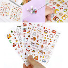 6 Sheets Kawaii Cartoon Rabbit PVC Paper Sticker for Scrapbooking Diary Decor