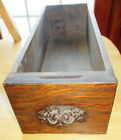 Antique Treadle Sewing Machine Drawer with Cast Iron Pull, Maple w/ Oak Veneer
