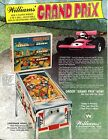 Grand Prix Williams Pinball Flyer /Brochure/ Ad - Mint