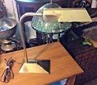Mid Century Hitachi Brass Bankers Desk Lamp True Vintage 1960s