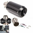Universal Motorcycle Clamp-On Carbon Fiber Exhaust Muffler Pipe 51mm DB Killer