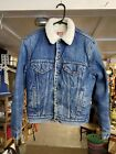 Levis Red Tab Sherpa Lined Jean Jacket VTG 80s USA Size 42