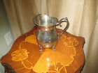 VINTAGE WATER PITCHER WITH POUR LIP, HANDLE AND FEET- SILVER PLATE #3