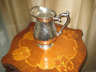 VINTAGE WATER PITCHER WITH HANDLE AND POUR LIP - SILVER PLATE #4