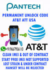PANTECH UNLOCK CODE ATT USA Pantech Breeze III P2030 PANTECH PursuitIIP6010