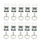 10pcs Silver Quick Release Latch Fastener 17mm Motorcycle Fairing Body Retrofit