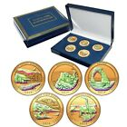 2014 Gold Plated with Hologram America the Beautiful National Parks Quarter Set