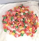 Vintage Plastic Blow Mold Sugared Candy Christmas Garland 210 Inches