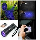 Blacklight, 12 Ultraviolet Led Flashlights Pets Urine & Stains Detector FREE AAA