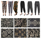 Women's Plus Size Printed Harem Pants Cuffed Bottom bloomers One Size US Stock
