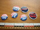 Six Nixon pin back buttons- Nixon Lodge- Nixon Agnew- I'm For Nixon