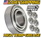 6 Pack Deck Spindle Bearings Replaces Exmark Toro 103 2477 w High Temp Grease