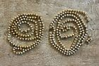 2 Sets of Vintage Christmas Tree Mercury Glass Gold Garland 1 2 String Beads