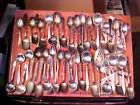 50 Pc. Mixed SPOONS Silverplate Flatware for Crafts Jewelry Replacements SPOONS