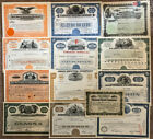 Mixed Lot Set of 59 stock and bond certificates all unique with great vignettes