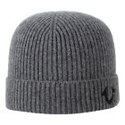 TRUE RELIGION Ribbed Knit Watchcap  Factory Grey TR1828