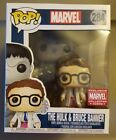 MARVEL CORPS funko POP THE GREY HULK AND BRUCE BANNER figure EXCLUSIVE #284