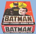 1989 - TOPPS - BATMAN - SERIES ONE - WAX BOX - 36 COUNT - INCLUDES INSERT POSTER