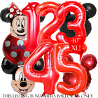 30 40 RED FOIL NUMBER BALLOONS MICKEY MOUSE MINNIE BALLOON birthday party