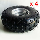 Pack of 4 ATV 145 70 6 Tyres + 6  Wheel Rims For 50cc 110cc Chinese Quad Bike