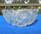 9 Vntg ABP Heavy Cut Lead Crystal with Star of David Pattern Fruit Salad Bowl