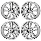 20 CHEVROLET TRAVERSE PVD CHROME WHEELS RIMS FACTORY OEM 2018 5847 EXCHANGE