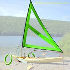 Serenity Upwind Kayak Sail and Canoe Sail System Green