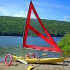 Serenity Upwind Kayak Sail and Canoe Sail System Red
