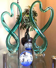 Gorgeous Hand Blown Glass Sculpture Murano Style