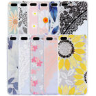For iPhone 8 Plus 7 Plus Case Flowers Pattern TPU Clear Slim Cute Silicon Girly