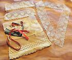 ANTIQUE VINTAGE LACE TRIM COLLAR CUFF DOLLS MILLINERY HAT MAKING AS-IS