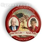 John McCain Sarah Palin For President 2008 Flag 3 Campaign Pin Pinback Button