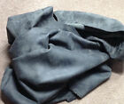 BR704 Leather Cow Hide Cowhide Upholstery Craft Fabric Distressed Gray