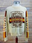 Vintage 1970s JC Penney Orlon Acrylic Native American Aztec Knit Sweater Large