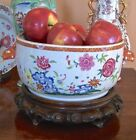 18TH CHINESE EXPORT TUREEN BASE FAMILLE ROSE